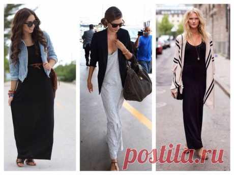 С чем носить длинное платье: 100+ модных вариантов и комбинаций
