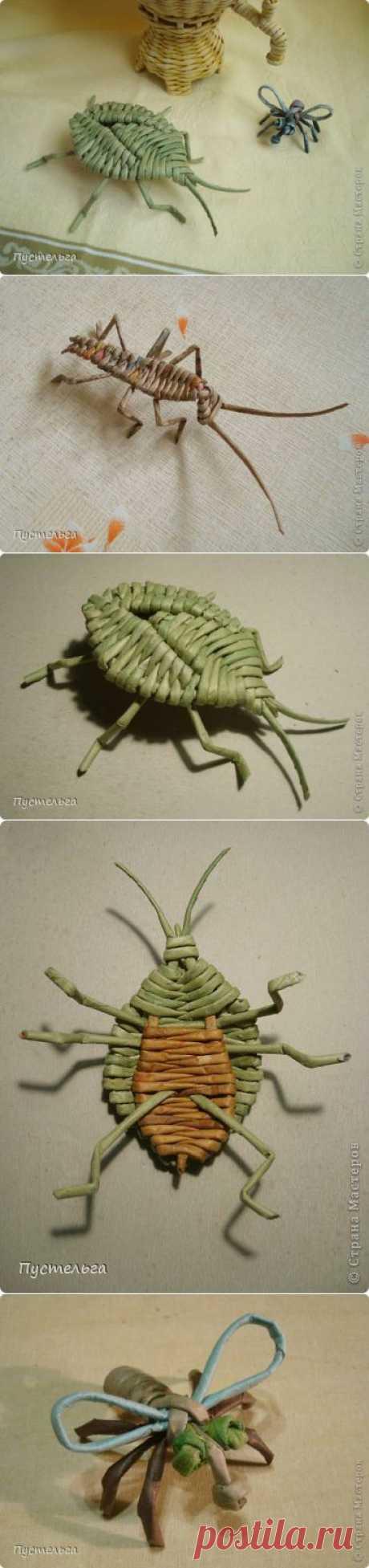 Жучки-паучки из бумажных трубочек. Автор Пустельга