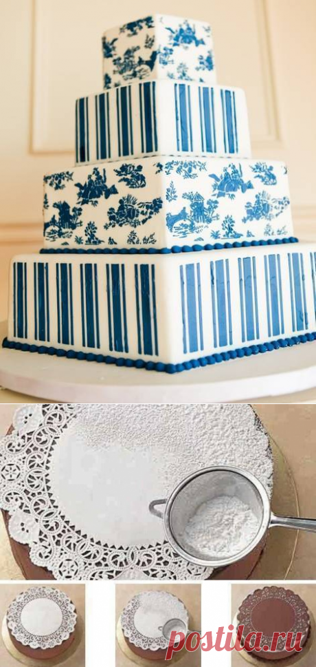 Трафареты для тортов и кондитерских изделий: 4 способа применения — Статьи