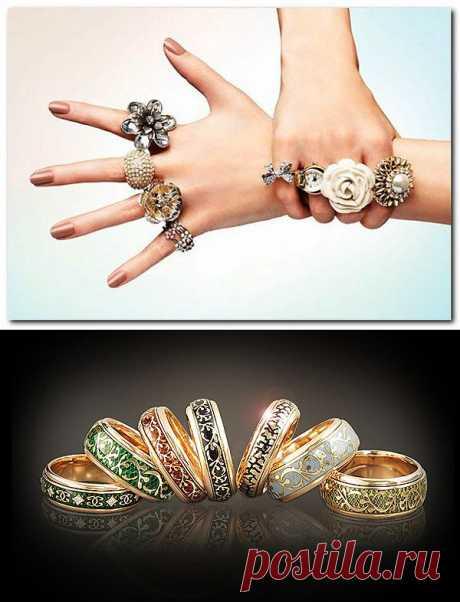 Значение кольца на пальце.