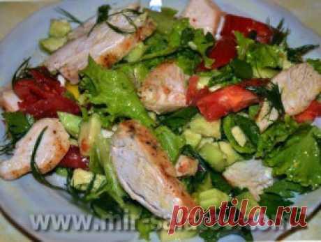 Салат легкий с курицей   mirsalatov