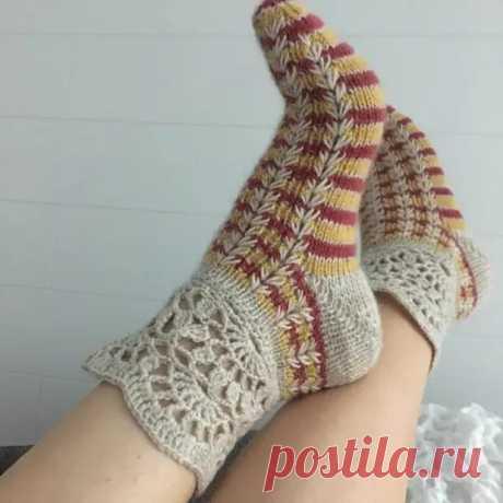 Красивые вязаные носки: 40 идей для вязания спицами - Сам себе мастер - медиаплатформа МирТесен