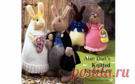 Вязаные свадебные кролики