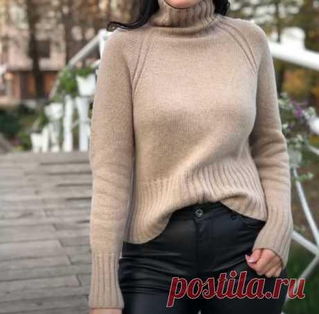Как связать свитер-реглан спицами