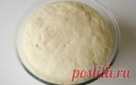 Дрожжевое сдобное тесто для пиццы (тонкая основа)