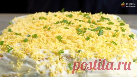 Оригинальный салат-торт из крекеров: видео рецепт и пошаговые фото | Fresh Recipes | Яндекс Дзен