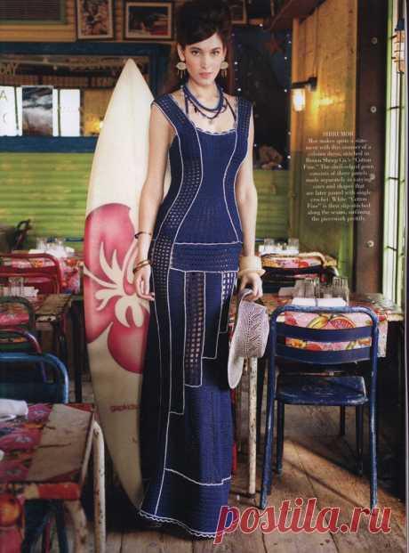 Вязаное крючком платье в пол Diy Модная одежда и дизайн интерьера своими руками