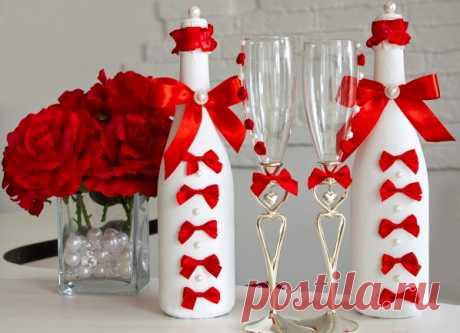Как можно декорировать пустую бутылку | Своими руками