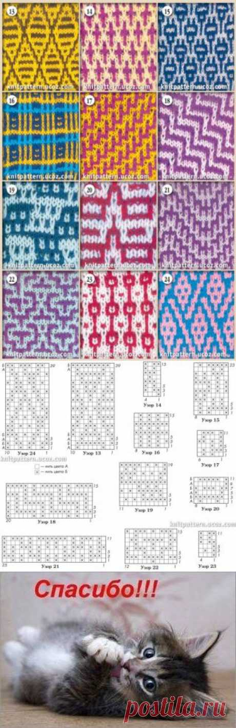 Ленивые узоры. Вязание спицами | Домохозяйки