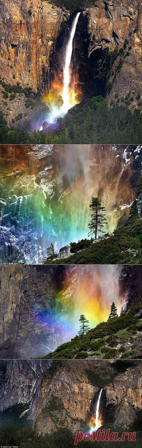 Восхитительные снимки радужного водопада Брайдалвейл | Улетные картинки