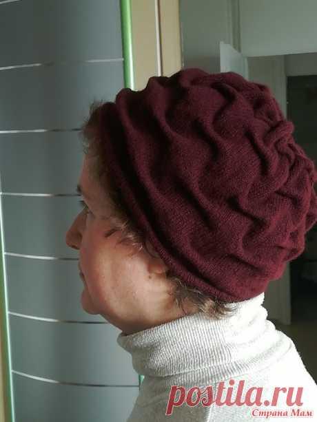 Шапка женская с эффектом клоке Никак не могла подобрать себе модель шапки. Нужна была шапочка, которая подходила бы к полному немолодому лицу и к короткой стрижке.
