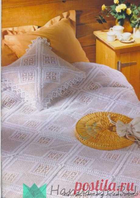 El velo vyazannoe y la almohada \/ la Labor de punto