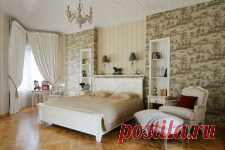 Light tone in a bedroom interior: features of design of the room