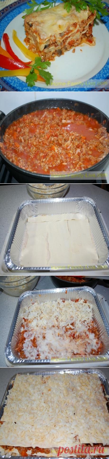 Лазанья/Сайт с пошаговыми рецептами с фото для тех кто любит готовить