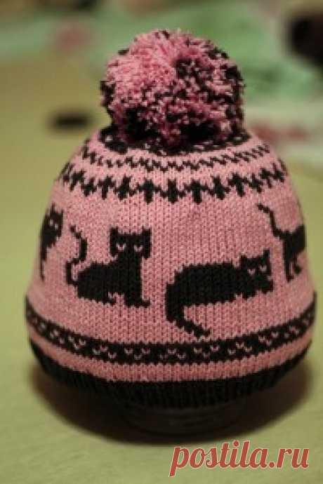 шапка с кошаками: ru_knitting