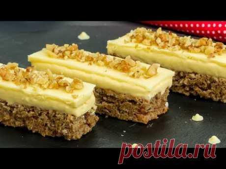 Самое вкусное и самое простое в приготовлении - ореховое пирожное с белым шоколадом. | Appetitno.TV