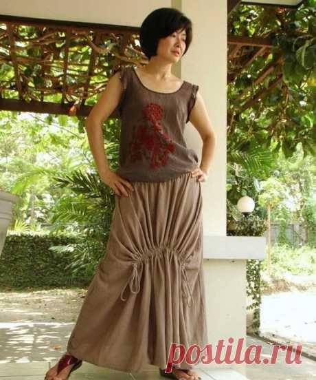 Тайская юбка в стиле бохо (подборка)