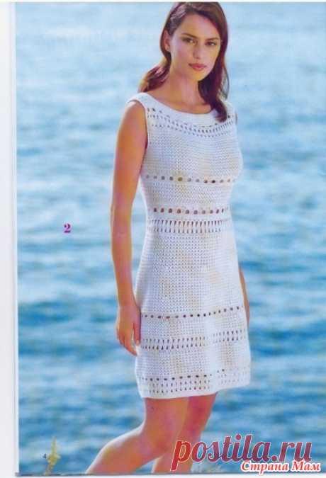 . Маленькое белое платье - Все в ажуре... (вязание крючком) - Страна Мам