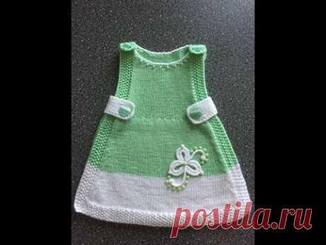 Вяжем платье-накидку для малышки спицами