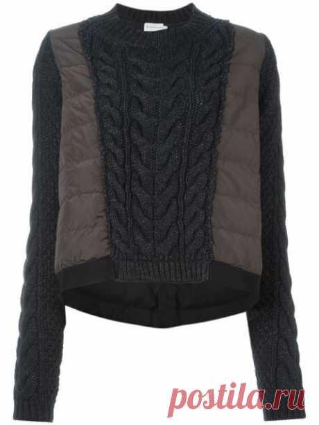 Гибрид свитера и пуховичка Модная одежда и дизайн интерьера своими руками