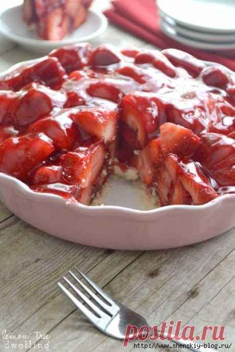 "Incredibly tasty pie dessert \""Strawberry in Jelly\""!"