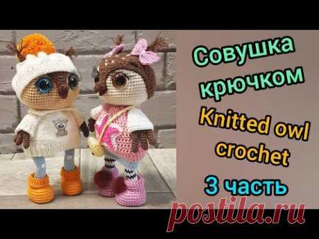 Совушка крючком (3) / Knitted owl crochet