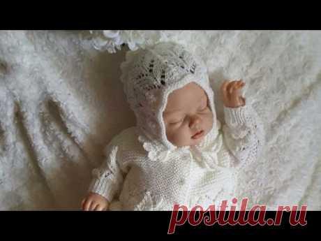 Чепчик для новорожденной малышки