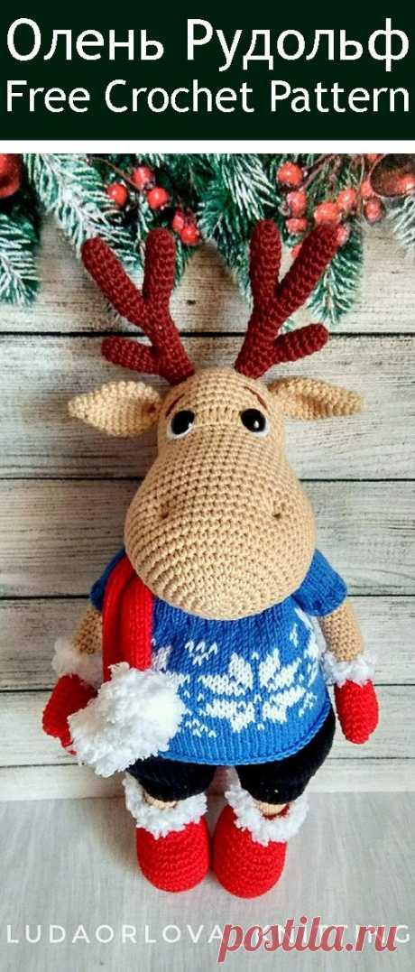 PDF Олень Рудольф. FREE amigurumi crochet pattern. Бесплатный мастер-класс, схема и описание для вязания игрушки амигуруми крючком. Вяжем игрушки своими руками! Олень, олененок, deer, олененок, hirsch, cervo, cerf. #амигуруми #amigurumi #amigurumidoll #amigurumipattern #freepattern #freecrochetpatterns #crochetpattern #crochetdoll #crochettutorial #patternsforcrochet #вязание #вязаниекрючком #handmadedoll #рукоделие #ручнаяработа #pattern #tutorial #häkeln #amigurumis