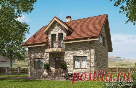 Rg5403 - Одноэтажный дом с мансардой и террасой