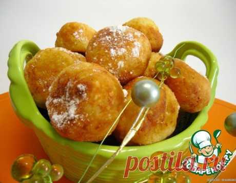 Творожные пончики с курагой – кулинарный рецепт