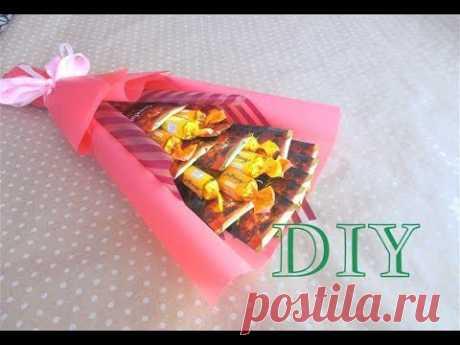 DIY Букет из чая и конфет своими руками