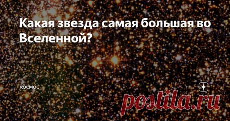 Какая звезда самая большая во Вселенной? До недавнего времени самой большой звездой, известной человечеству, считалась звезда UY Щита. Если сравнивать её с нашим Солнцем, то наше светило выглядит маленькой, едва заметной точкой на её фоне UY Щита, но существует звезда крупнее UY Щита. В сегодняшней статье мы расскажем о самой большой известной человечеству звезде во Вселенной. Какие звезды являются самыми большими во Вселенной? Красные сверхгиганты — одни из самых больших ...