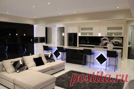 Квартира студия в черно-белом интерьере. Сайт по дизайну и ремонту квартир  www.remontr99.ru