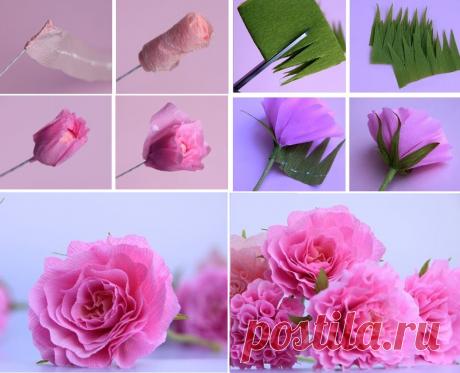 Цветы из бумаги: мастер-класс — Сделай сам, идеи для творчества - DIY Ideas