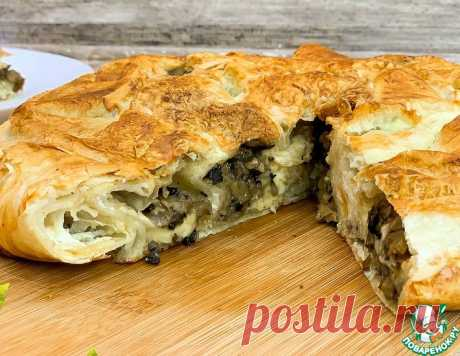 Пирог из лаваша с сыром и грибами – кулинарный рецепт