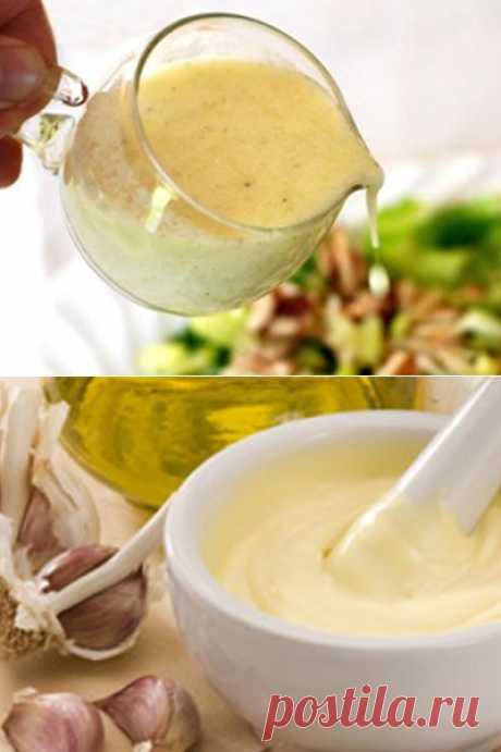 Салатные заправки без майонеза | Рецепты моей мамы