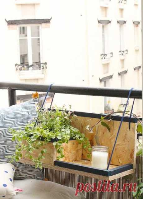 Подвесные полки на балкон своими руками: мастер-класс — Сделай сам, идеи для творчества - DIY Ideas