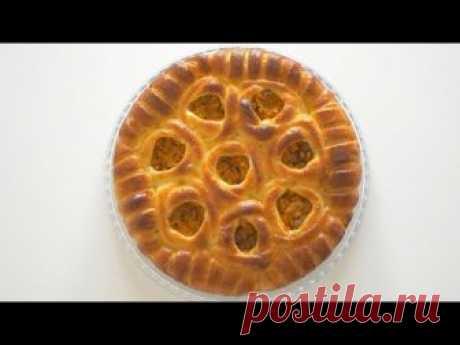 """Пирог """"Букет роз"""" с тыквой из творожного теста"""