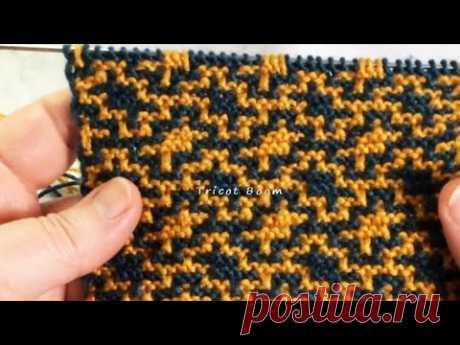 Абстрактный узор для мозаичного полотна / Вязание спицами.