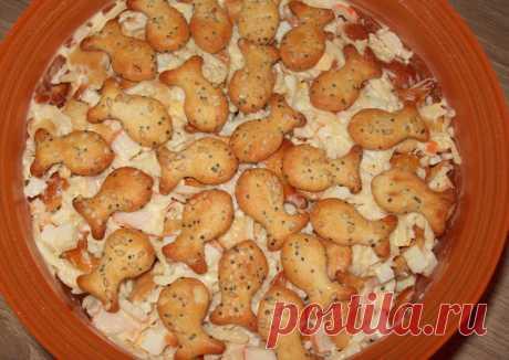 Салат с крекерами и крабовыми палочками Автор рецепта Oльга Шотт - Cookpad