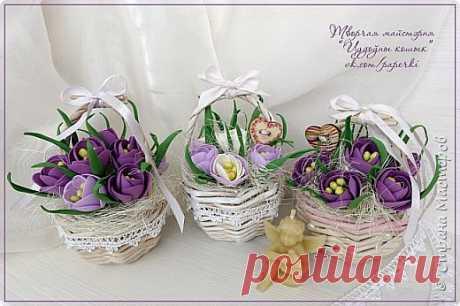 Мастер-класс весенних цветочков из фоамирана   Страна Мастеров
