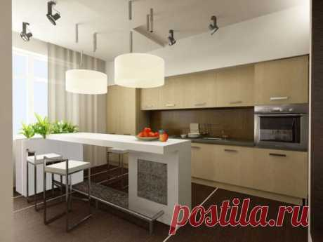 Кухня выполненная в неординарном стиле.