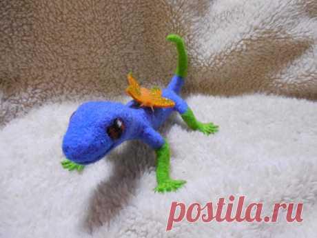 Ящерка из шерсти Aus Wolle innen Spielzeug Eidechse Lacertian Reptil