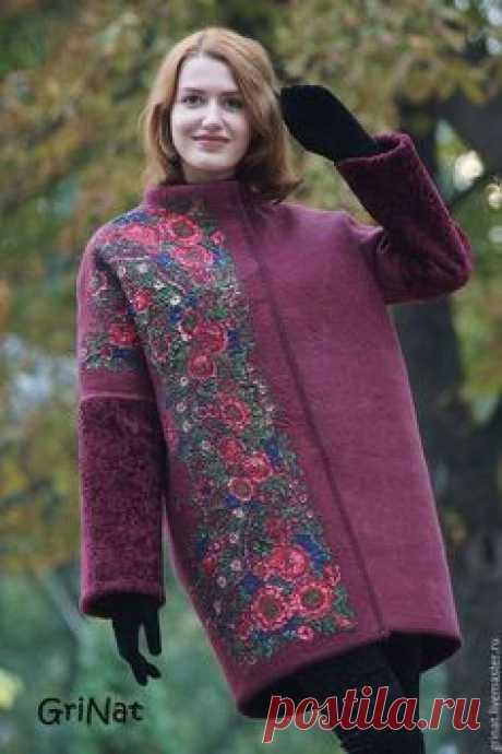 """Верхняя одежда ручной работы. Ярмарка Мастеров - ручная работа. Купить Пальто""""Велимира"""". Handmade. Валяная одежда, пальто оверсайз, оверсайз"""