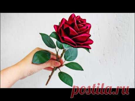 Реалистичная роза из лент своими руками. Видео мк. How to make a rose from ribbons. DIY/ Tutorial.