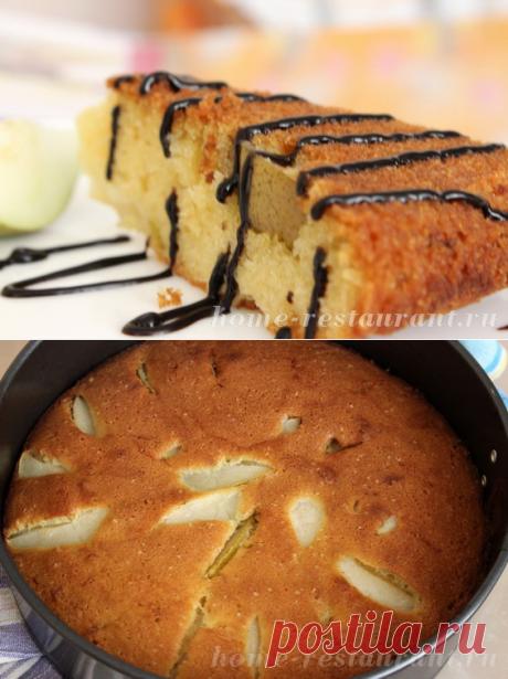 Пирог с грушами в духовке: пошаговый рецепт с фото