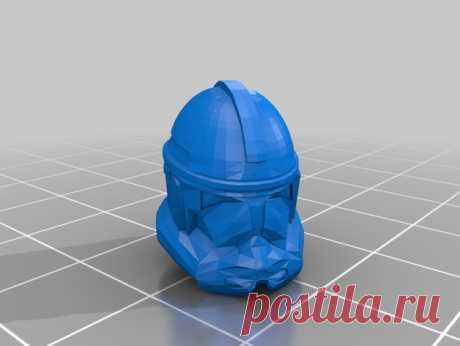 """SW Clone Helmet V2 by Jace1969 An old file from my Pepakura making days that I discovered in Pepakura Designer you can export to .OBJ and in """"Windows 10 3DBuilder or 123Design"""" export to .STL. Unfortunately I don't have the skills yet to improve further on the model, but maybe someone out there would like to tidy it up. Please upload it back as a remix if you do take the time to clean it up. Please note this was originally uploaded to the net as a free down load. So I cant..."""