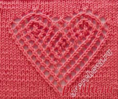 """Сердечный"" узор крючком.  © Handmade"