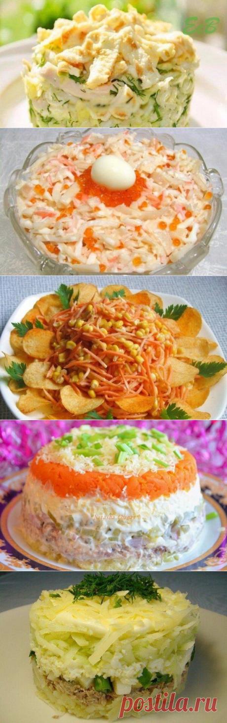ТОП-6 вкусных салатов!