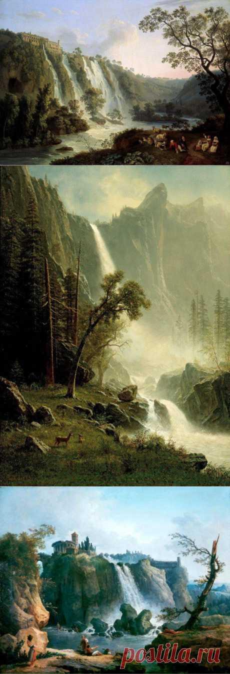 Пейзажно-водопадное...живопись.
